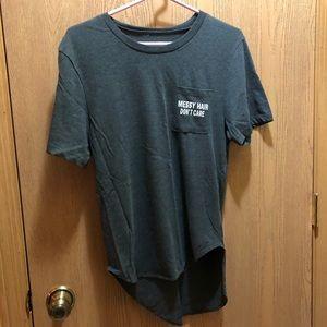 Gray Jersey Style T-shirt
